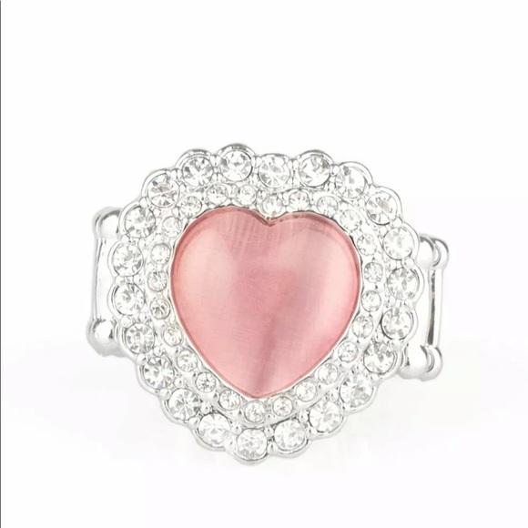 Paparazzi Pink Moonstone Heart Ring